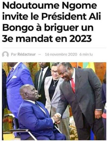 Prétendue candidature d'ABO en 2023 au Gabon : Les élucubrations de Jonathan Ndoutoume Ngome