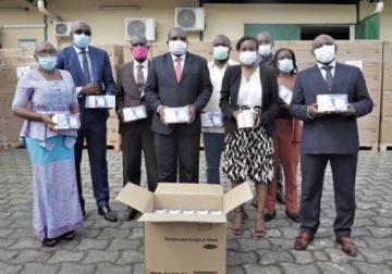 Don de masques chirurgicaux aux populations du Gabon par le groupe Arise IIP, IS et P& : Ils seront distribués aux personnes les plus nécessiteuses